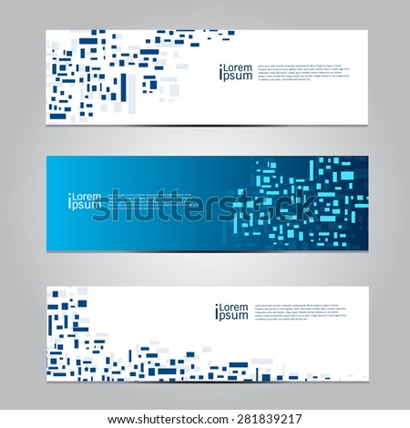 Vector design Banner background. - stock vector