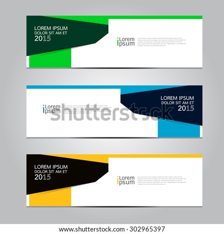 Vector design Banner  background. illustration EPS10 - stock vector