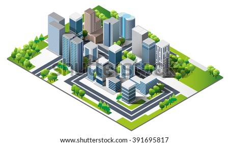 Vector Design - city and tree. Good health on green city. Design of lifestyle in metropolis concept, Urban cityscape. green town. modern town and nature. - stock vector
