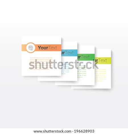 Vector design, colorful simple card versions in business style Abstract geometric background composition  for infographics, brochure print or for website design graphics element.  - stock vector