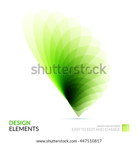 Vector Design Elements for graphic layout. Modern Abstract background template with green soft flower shapes and wave gradient elements for business and beauty with beautiful overlap effect. - stock vector