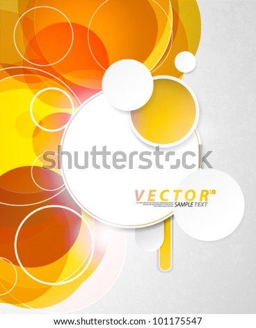 Vector Design - eps10 Abstract Concept with Circle Elements Background - stock vector