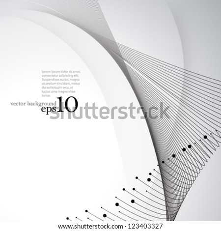Vector Design - eps10 Abstract Overlapping Elements Background - stock vector