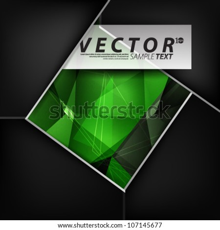 Vector Design - eps10 Abstract Vector with Green Background - stock vector