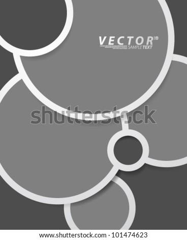 Vector Design - eps10 Circle Shaped Bubble Concept Background - stock vector
