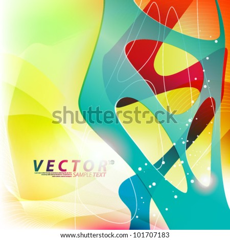 Vector Design - eps10 Colorful Abstract Concept Illustration - stock vector