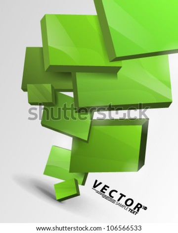 Vector Design - eps10 Floating Boxes Concept Illustration - stock vector