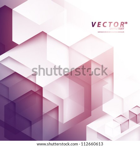 Vector Design - eps10 Overlapping Elements Concept Illustration - stock vector