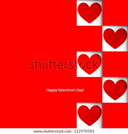 Vector Design - eps10 Overlapping Heart Shapes Background - stock vector