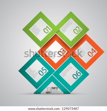 Vector Design - eps10 Overlapping Modern Design Squares Background - stock vector