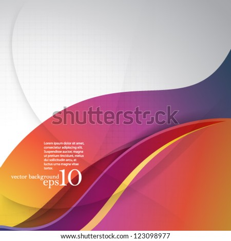 Vector Design - eps10 Overlapping Smooth Curve Lines Concept Background - stock vector