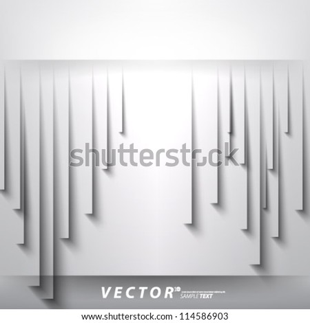 Vector Design - eps10 Overlapping Thick Lines Concept Illustration - stock vector