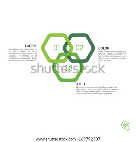 Vector design. Green edition of a 3d abstract geometric origami style rounded corner hexagon frame illustration for web site element, printed brochure or other medium of presentation.  - stock vector