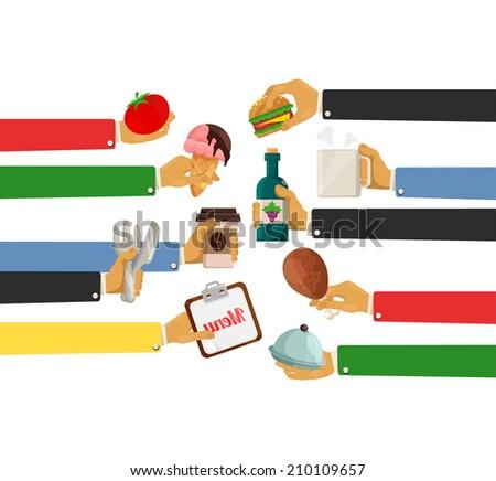 vector design illustration concept for restaurant - stock vector