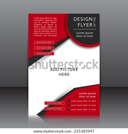 Vector design of the flyer. Poster template for your business. - stock vector