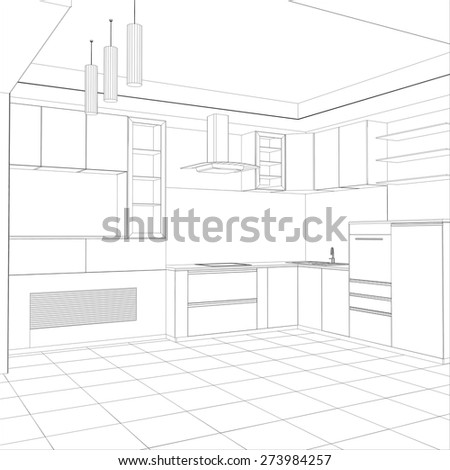 vector design process in wire-frame. Illustration created of 3d. - stock vector