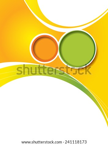 Vector design smooth wave curve lines and circles. Abstract background. - stock vector