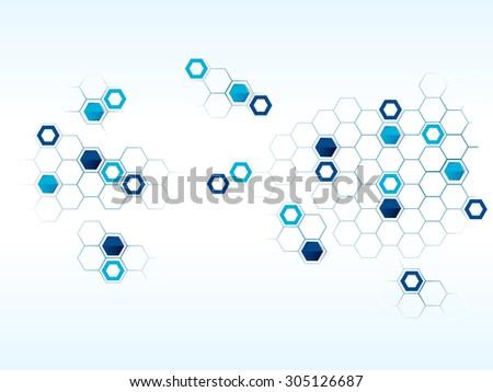 Vector design technology, Network,medical, business background - stock vector