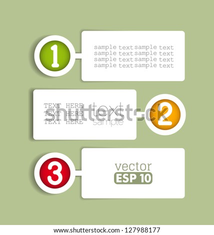 vector design template with paper numbered banners - stock vector