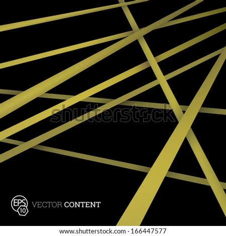 Vector design. Yellow golde dition of straight crossing lines in a scalable eps10 geometric composition. Stripes for webdesign, printed brochure or for infographics abstract  illustration background   - stock vector