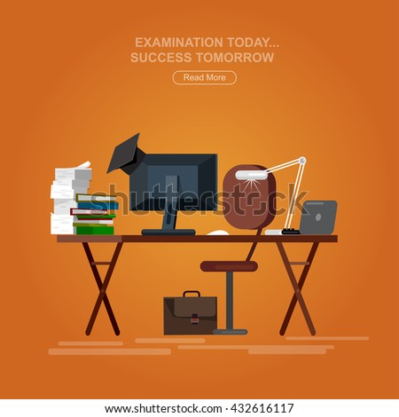 Vector detailed objects for education. Flat set, style vector - stock vector
