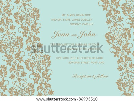 Vector Diagonal Gold Frame. Easy to edit. Perfect for invitations or announcements. - stock vector