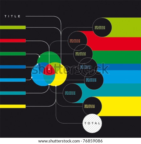 Vector Diagram for Web or Prints with place for your texts - stock vector