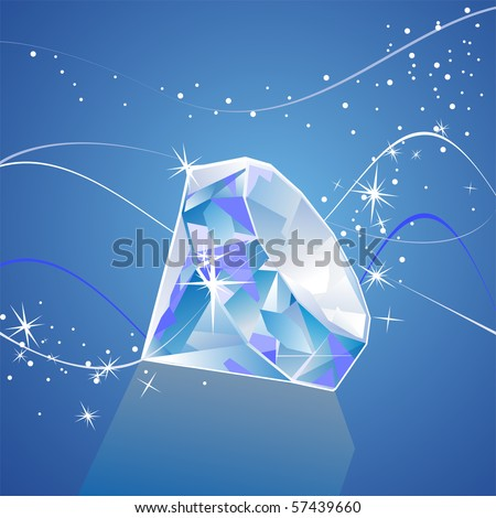 vector diamond - stock vector