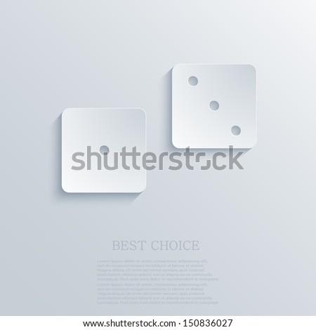 vector dice background. Eps10 - stock vector