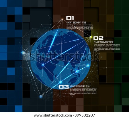 Vector digital technology concept - stock vector