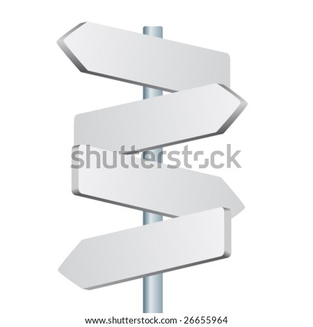 vector direction sign - stock vector