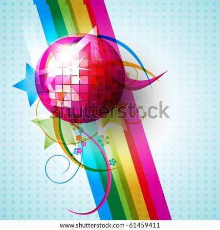 vector disco ball design illustration - stock vector