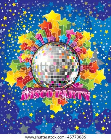Vector Disco Party Illustration - stock vector