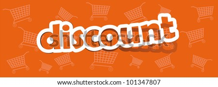 vector discount; realistic cut, takes the background color - stock vector