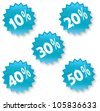 vector discount tags and labels in white background - stock vector