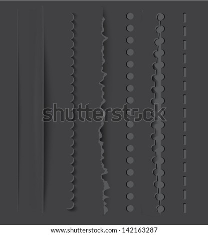 Vector dividers and vertical rules for design - stock vector