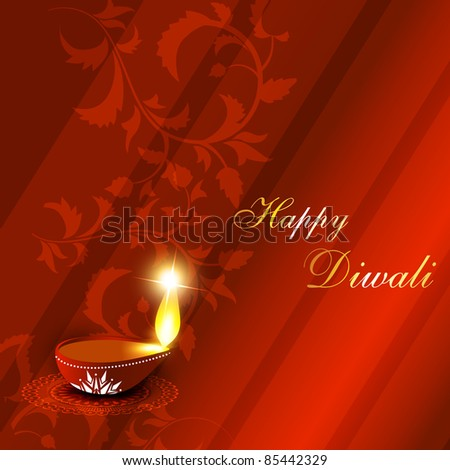 vector diwali festival background - stock vector