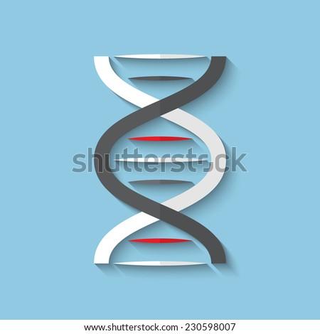 Vector DNA flat icon. Eps10. - stock vector