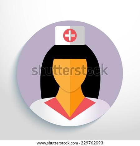 Vector doctor avatar web icon.Eps10.  - stock vector