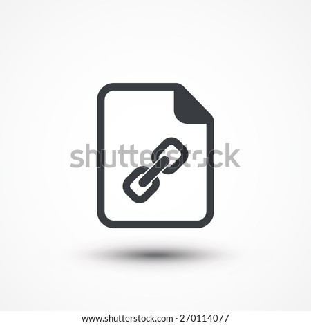 Vector document link icon - stock vector