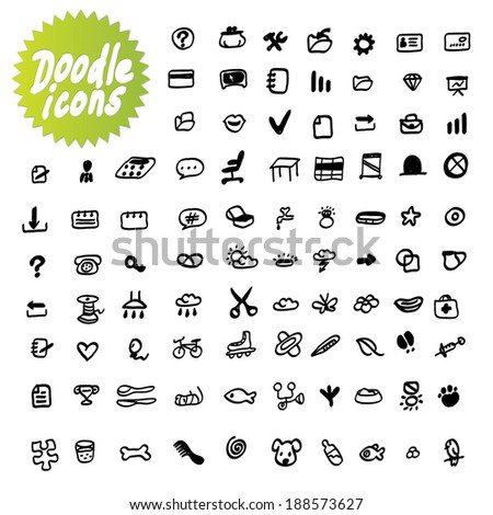 Vector dodle icons - stock vector