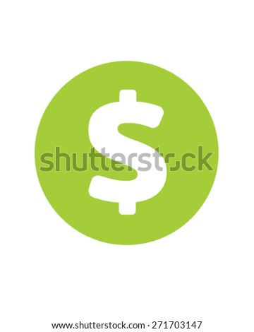 Vector Dollar Sign Icon  - stock vector