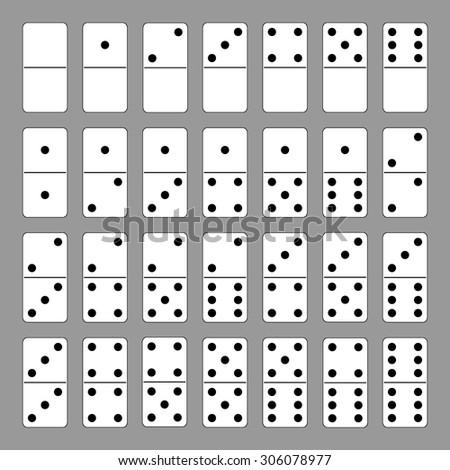 Vector domino set. Backgrounds & textures shop. - stock vector