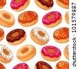 Vector donuts pattern - stock vector