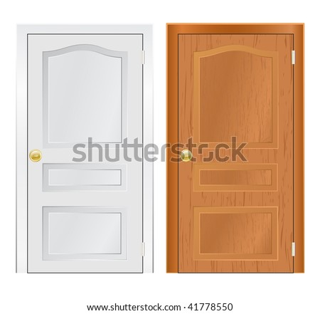 vector doors isolated on white - stock vector