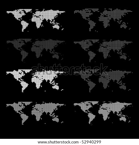 Vector dotted Map - stock vector