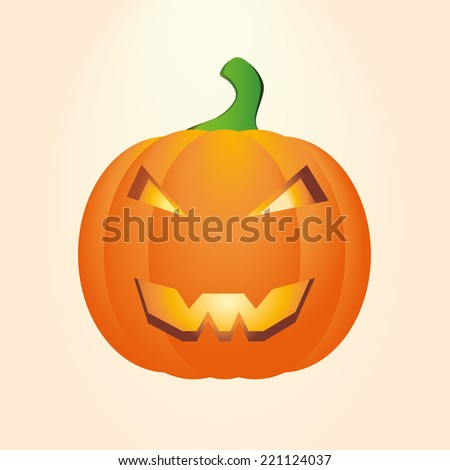 Vector drawing carved pumpkins for halloween. Happy Halloween, Jack O Lantern - stock vector