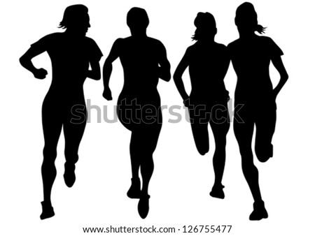 Vector drawing competition run among women - stock vector
