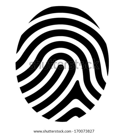 vector drawing fingerprint symbol - stock vector