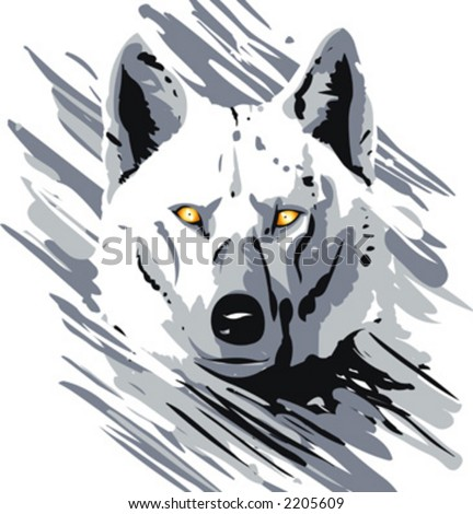 drawing of animal life. This is not a trace, but a digital drawing ... Angry Black Wolf Drawing